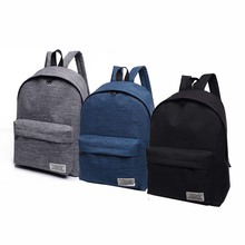 2018 Men Male Canvas Black Backpack College Student School Backpack Bag