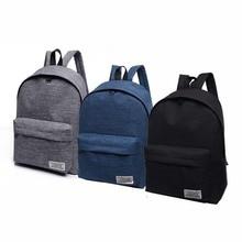 2018 Men Male Canvas Black Backpack College Student School Backpack Bag