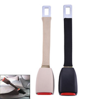1PCS Beige Black Car Auto Seat Belt High Strength Nylon Extender Red Button Extension Buckle Universal