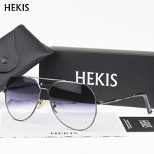 HEKIS Brand Best Men's Sunglasses Mirror Lens Big Oversize Eyewear Accessories Sun Glasses For Men/Women B2724