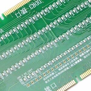 Image 4 - DDR2 et DDR3 2 en 1 testeur lumineux avec lumière pour carte mère de bureau Circuits intégrés livraison directe