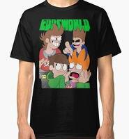 Eddsworld La Fine degli uomini Black T Shirt Abbigliamento di Alta Qualità di Stampa Personalizzata Tops Hipster Tees T-Shirt 2017 di Modo Breve