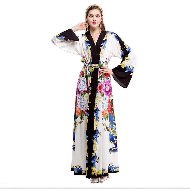 Plus Size Women Dress 2017 Robe Elegant Vintage Floral Winter Ladies