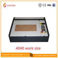 Free shipping 110/220V 50W 400*400mm CO2 Laser Engraver Cutter Engraving Machine 4040 Laser Cutting Machine with USB Sport