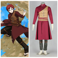 Ainclu Free Shipping Anime Product Top Selling NARUTO Anime Cosplay Sabaku No Gaara Brown Tan Vest Costume Halloween