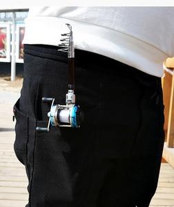 Image 5 - ultrashort carbon telescopic fishing rod hard spinning rod portable travel stick squid pole for seafishing 1.0 1.5m