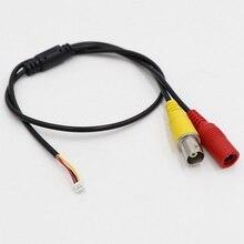 CCTV камера 3 PIN 1,25 мм видео кабель, длина кабеля около 500 мм, для камеры видеонаблюдения(DC вход+ BNC видео выход
