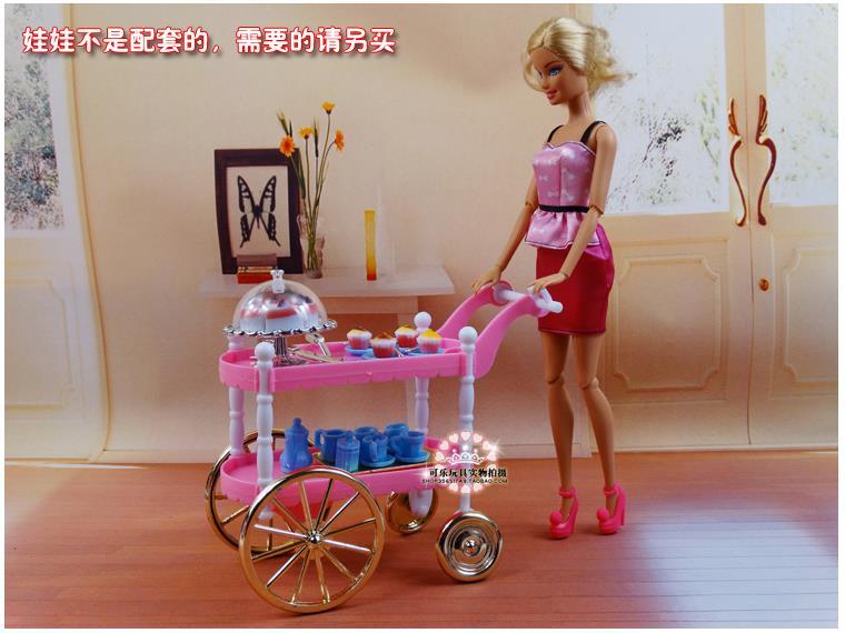 Hot Selling Doll Möbler Mats Tårta Bil Tillbehör Till Barbie Ken - Dockor och tillbehör - Foto 2