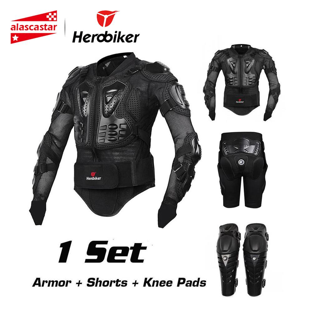 HEROBIKER Motorcycle Protection Motorcycle Armor Moto Protective Gear Motocross Armor Racing Full Body Protector Jacket Knee PadHEROBIKER Motorcycle Protection Motorcycle Armor Moto Protective Gear Motocross Armor Racing Full Body Protector Jacket Knee Pad