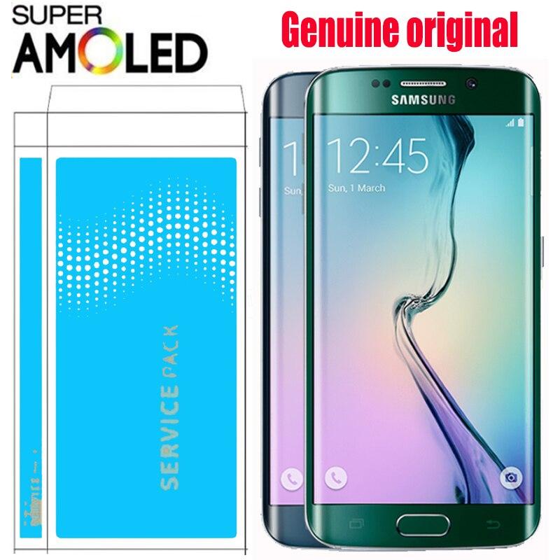 ORIGINAL 5 1 LCD with Burn Shadow for SAMSUNG Galaxy s6 edge Display G925 G925I G925F