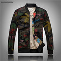 Men Camouflage Baseball Jacket College Varsity Jackets & Coats New 2017 Meshed Shell Mens Camo Pattern Bomber Jacket