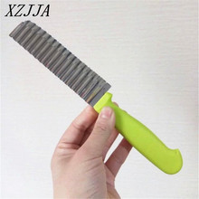 New Arrival Potato Wavy Edged Knife Stainless Steel Plastic Handle Kitchen Gadget Vegetable Fruit Cutting  Kitchen Accessories