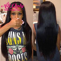 7A Peruvian Virgin Hair Wig Straight Lace Front Wig Natural Hair Lace Front Wigs Alionly Human Hair Lace Front Wigs Black Women