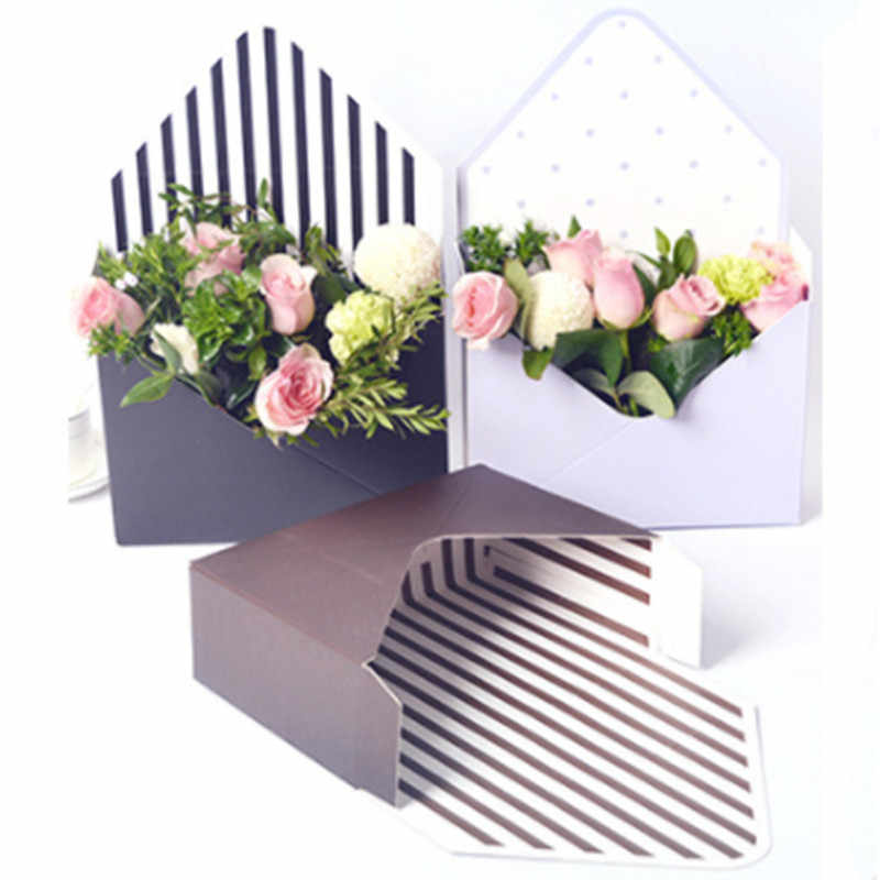 5pcs/lot Mini Paperboard Envelope Fold Flower Box Flowers Wrapping Gift Box Flower Packaging Home Decoration