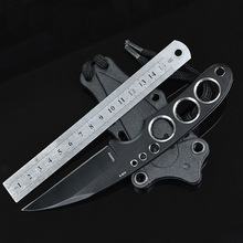 Diving Knife HK Fixed AUS-8 Blade Knife 58HRC Camping Survival Pocket Hunting Tactical Knives With Leggings Tools