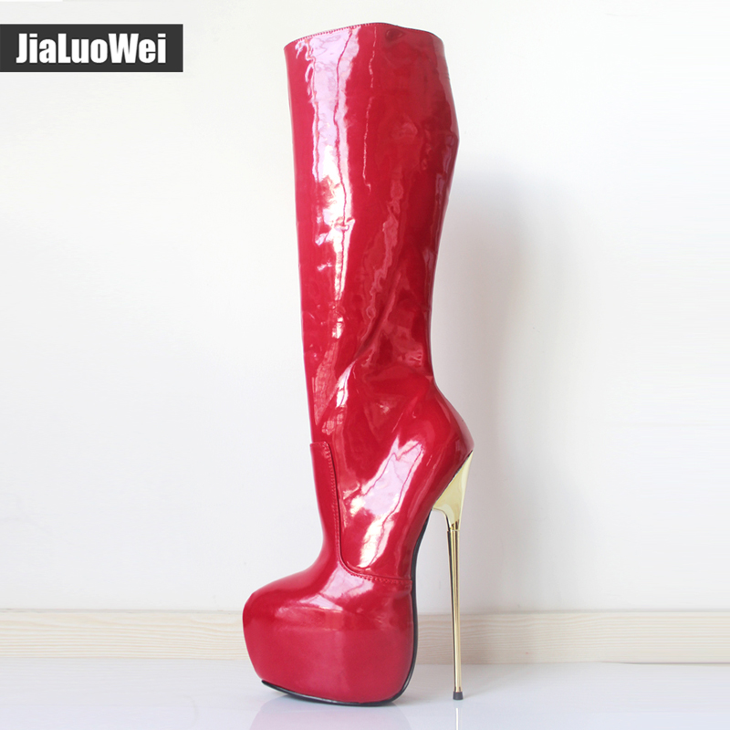 image Heel 30 cm platform 20 cm flowers leather