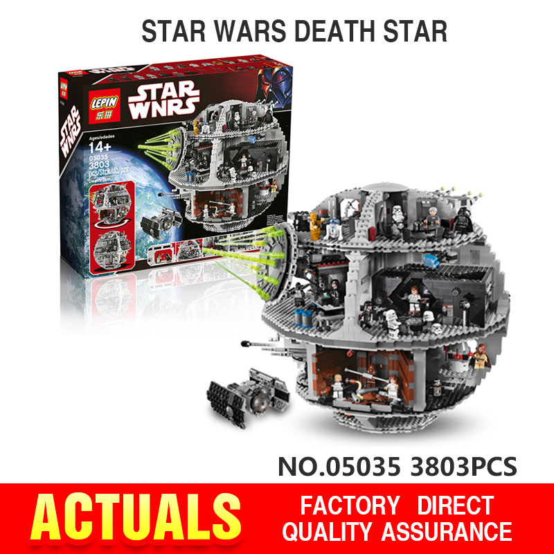 LEPIN 05035 Star Wars Death Star Building Block Bricks Kits anime figures fun Toys for children Compatible Starwars 10188 05033 lepin 22001 pirate ship imperial warships model building block briks toys gift 1717pcs compatible legoed 10210