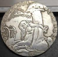 1920 ** Exonumia ** (Medaillen-Deutschland) Medaille-Sterben Schwarze Wacht am Rhein Silber Überzogene Kopie Münze
