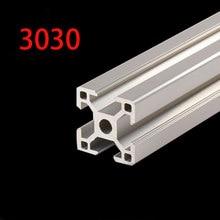 Peças de impressora 3d 3030 perfil alumínio anodizado padrão europeu trilho linear extrusão perfil alumínio 3030 extrusão 3030