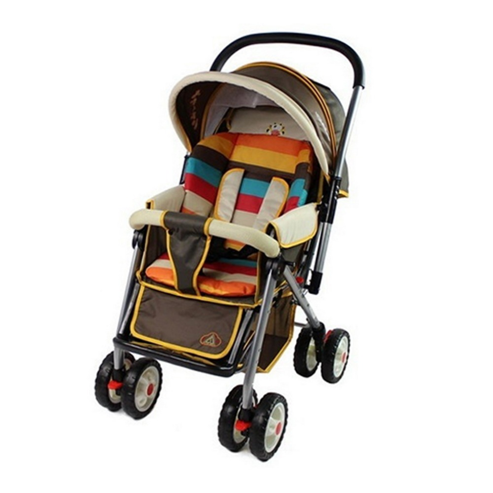 2018 New Arrival Rainbow Baby Stroller Cushion Child Cart Seat Cushion Pushchair Nylon Oxford Thick Mat 0-36 Month Baby Car Pad