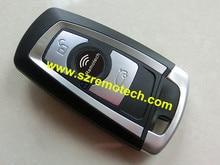 Бесплатная Доставка New Uncut Оболочки 3 Кнопки Смарт-Ключ Пустой Фоб Смарт-дистанционный Ключ Fob С Ключ Подходит Для BMW Новый 5 Серии