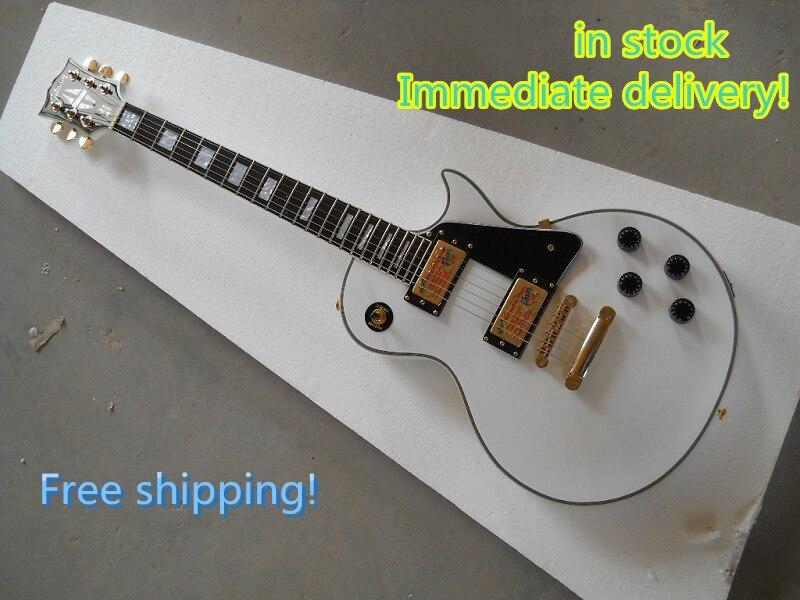 Le 50e anniversaire de la nouveau style célèbre le 1960 classique blanc personnalisé guitare électrique pour la livraison gratuite