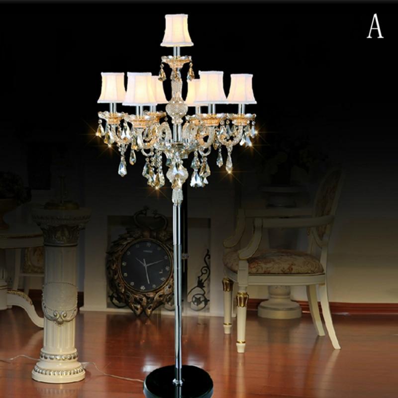 Luxusní křišťálová stojací lampa pro ložnice Moderní stojací lampy pro obývací pokoj Pokoj pro hosty Stojací lampa pro obývací pokoj