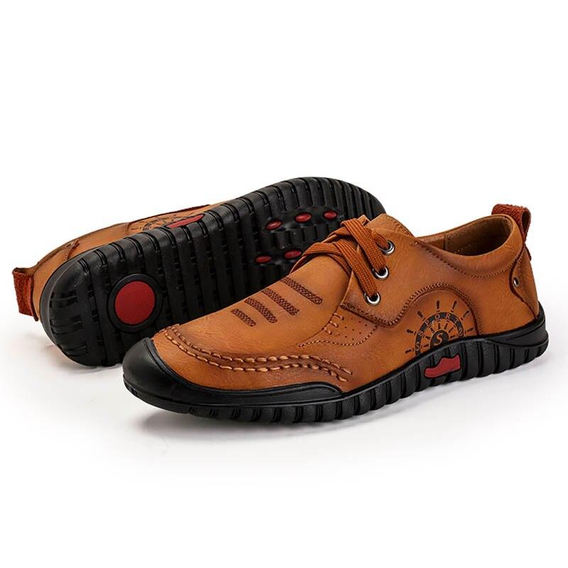 De Hommes Yellow brown Yiqitazer Nouveau Lacets Printemps Design Casual Pu Mariage Cuir D'affaires forme Plate En 2018 Homme Cuir Chaussures w68qnUwp