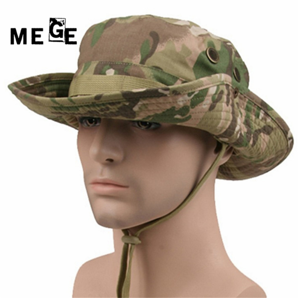 MEGE 14 Colors Camouflage Tactical Airsoft Sniper Camouflage Boonie Hattar Nepalese Cap Army Men American Military Free size 59-60