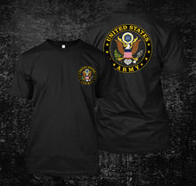 купить 2019 Funny United States Army Logo - Custom Men'S Black T-Shirt Tee Double Side Unisex Tee дешево