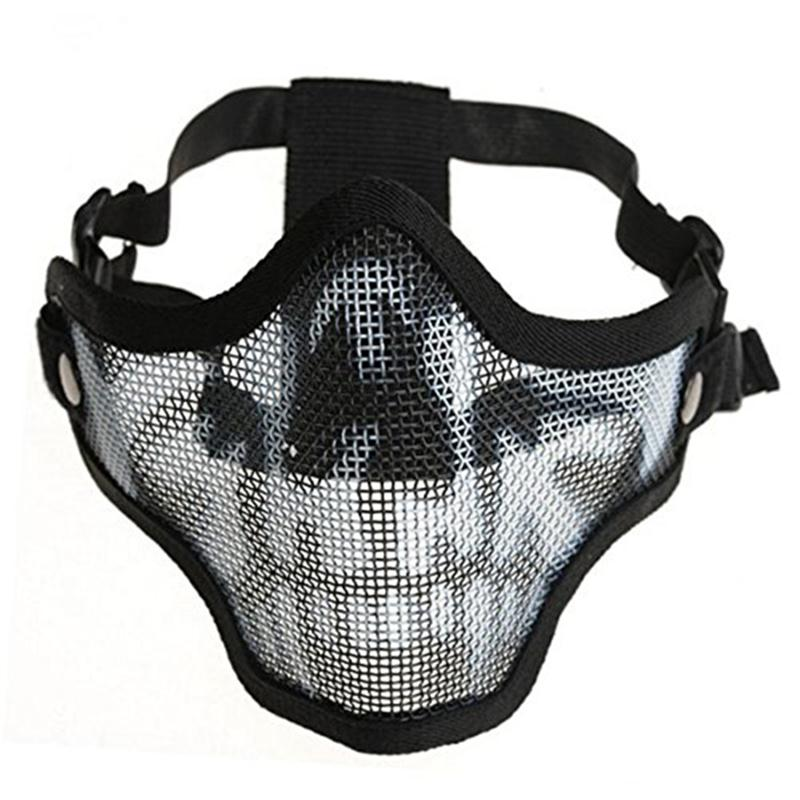 2017 HOT Top Quality Protected Face Mask Generic Tactical Airsoft CS Game Protective Guard Mesh Metal Half Face Mask