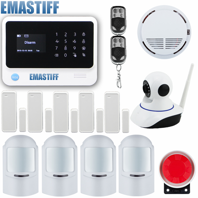 Marlboze Voice APP Control Intruder Burglar WIFI GSM GPRS Security Alarm System Touch Keypad can work with IP camera yobangsecurity touch keypad wifi gsm gprs home security voice burglar alarm ip camera smoke detector door pir motion sensor