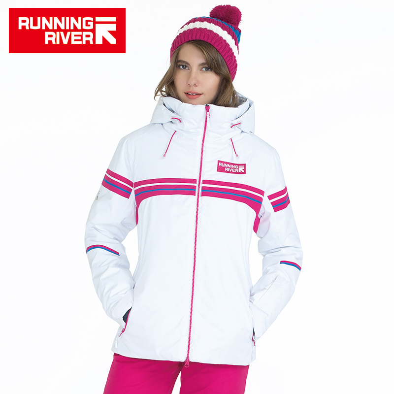 RUNNING RIVER Brand Winter Ski Jacket For Women 4 Colors 6 Sizes Outdoor Sports Woman Jackets High Quality Women Clothing #A5024 running river brand men hooded ski jacket for winter 4 colors 6 sizes high quality outdoor sports jackets for man a6026