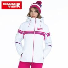 FLUSS Marke Winter Ski Jacke Für Frauen 4 Farben 6 Größen Outdoor Sports Frau Jacken Hohe Qualität Frauen Kleidung # A5024