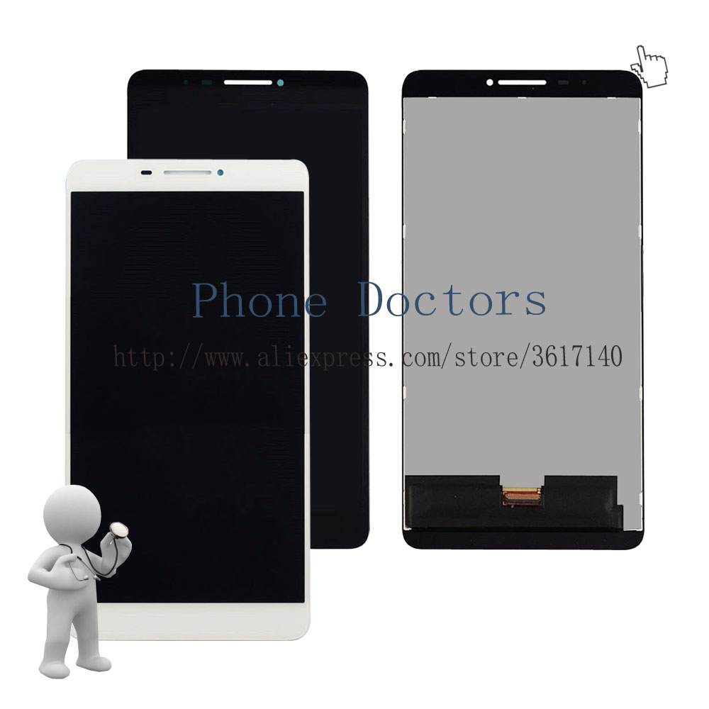 6.98'' Touch Screen Digitizer Glass + LCD Display Assembly For Lenovo PHAB PB1-750N PB1-750M PB1-750 ; New ; Black / White pb1 770n cover soft tpu rubber back case for lenovo phab plus pb1 770n case pb1 770m back case 6 8 inch screen tablet