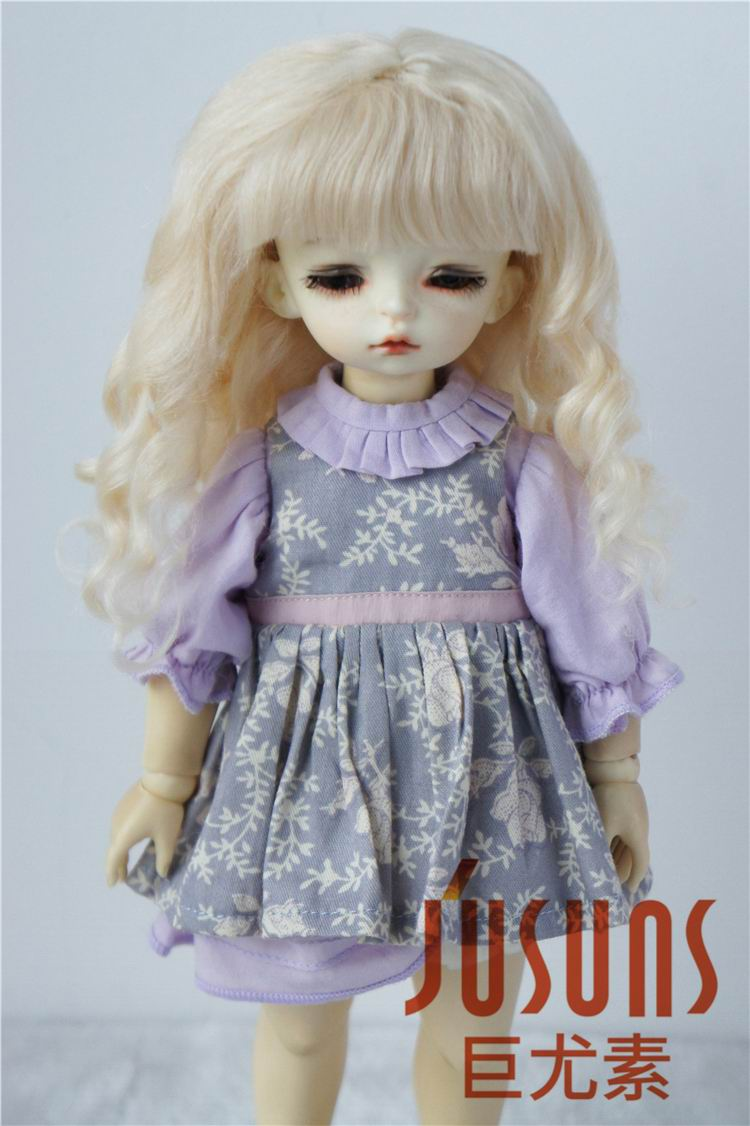 JD162 1/6 1/4 YOSD MSD Romantic Sauvage mohair doll wigs Size 6-7inch 7-8inch BJD wigs BB doll accessories fashion nighty for bjd 1 6 yosd 1 4 msd 1 3 sd17 uncle doll clothes accessories