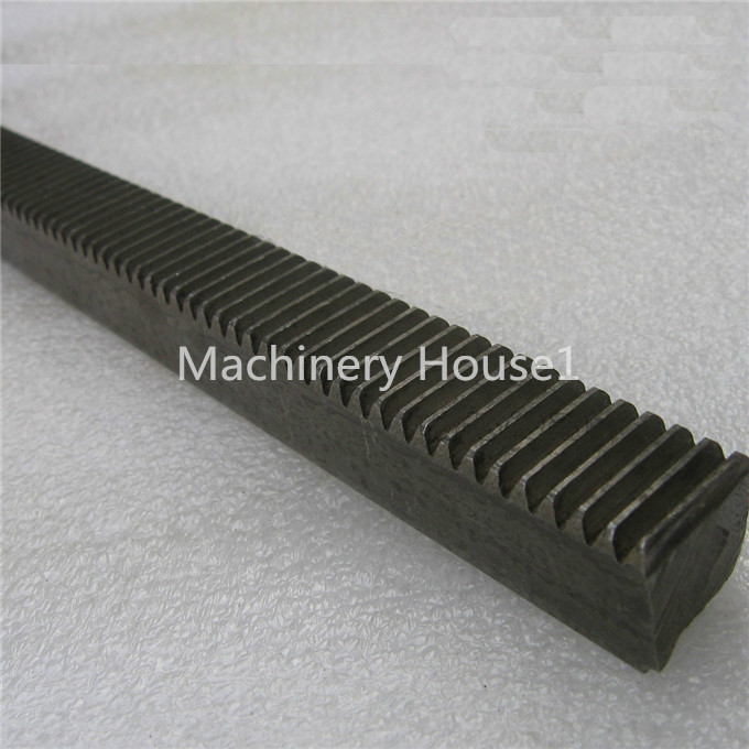 2 pieces Mod 1 12x12x1000 spur Gear rack right teeth WIDTH 12MM HEIGHT 12MM L1000mm 45# steel Black Oxide CNC parts modulus 1 M1 c45 steel 2 0m spur gear 20teeth and rack 2mx20 20x1000 for cnc machine