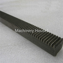 2 pieces Mod 1 12x12x1000 spur Gear rack right teeth WIDTH 12MM HEIGHT 12MM L1000mm 45# steel Black Oxide CNC parts modulus 1 M1