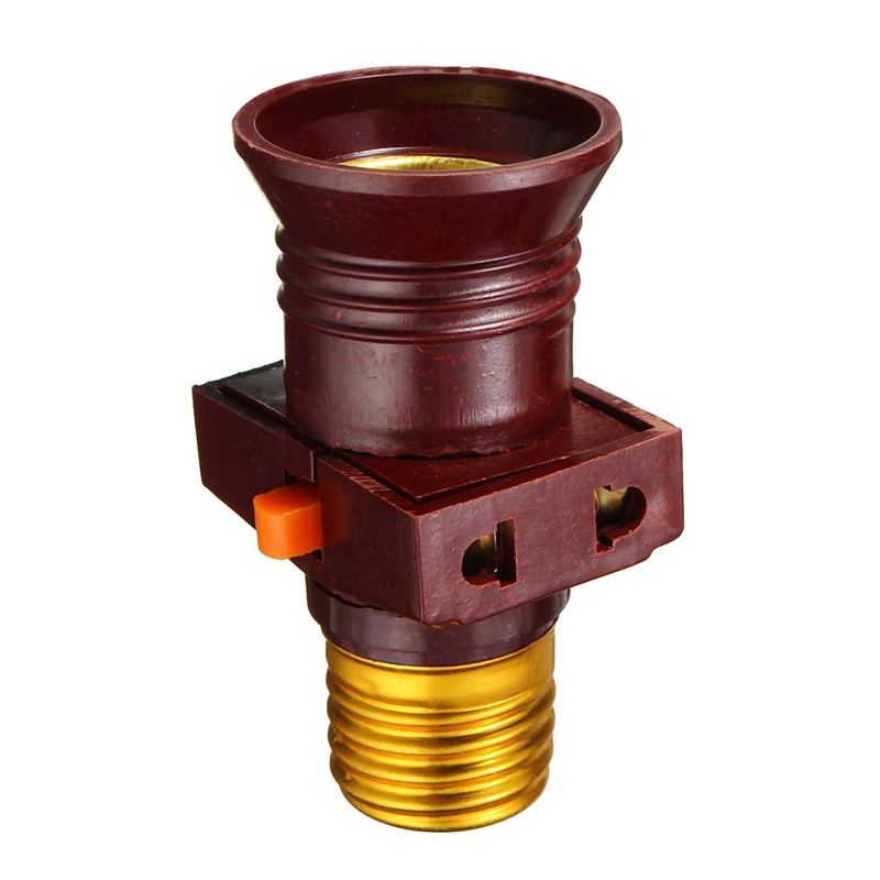 Light Bulb Base E27 Screw Lamp Base Holder Converter Socket To With Socket Switch Adapter Rated Voltage AC110-250V 6A