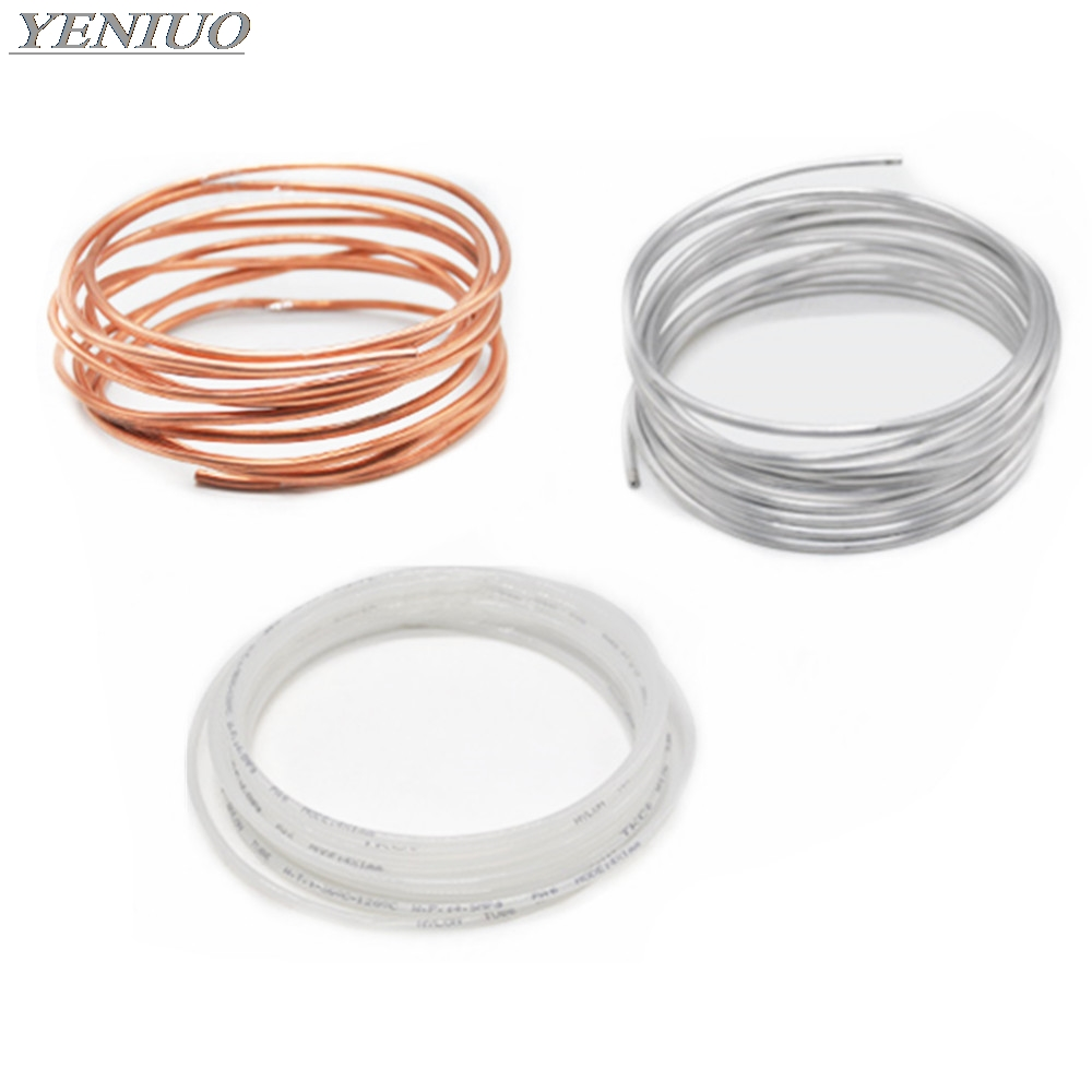 1Meter 4/6/8mm Lubricating Oil Pipe Copper, Aluminum, Nylon Tube Machine Oil Tubing Lathes Lubricate Oil Delivery Pipe