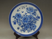 China hand painting porcelain Rare Blue and White Porcelain Plate Yutang wealth