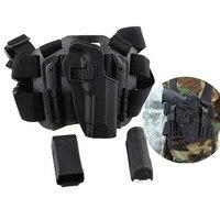Tactical Muslo de La Pierna Derecha Holster w/Antorcha Bolsa Revista Beretta 92 96 M9