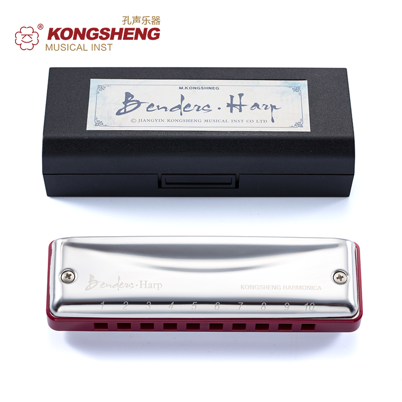 KONGSHENG Benders Harp Diatonic Harmonica high quality 10 holes Blues Harp mouth organ Specail for Beginner Key ofC/D/E/F/G/A/Bb