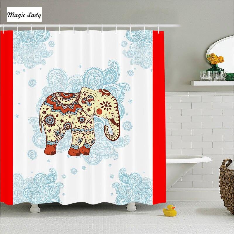 Shower Curtain Elephant Bathroom Accessories Animals