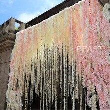 Новое поступление искусственная Гортензия Глициния Цветок лозы цветы для свадебной арки ротанга marrige вечерние партии гирлянды украшения Цветочный