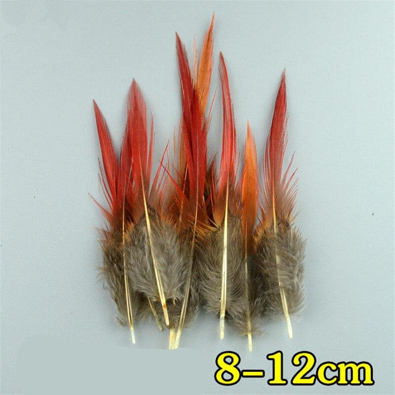 Натуральное павлинье перо перья фазана для рукоделия страусиные перья Изготовление ювелирных изделий рождественские праздничные украшения Плюмы - Цвет: 8-12 CM
