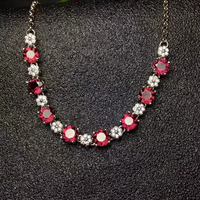 natural red garnet gem Bracelet Natural gemstone bracelet S925 silver Romantic Elegant lovely dog girl party gift fine jewelry