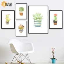 Cactus Succulent Pot Plant Nordic Posters And Prints Wall Art Canvas Painting Pictures For Living Room Bedroom Home Decor