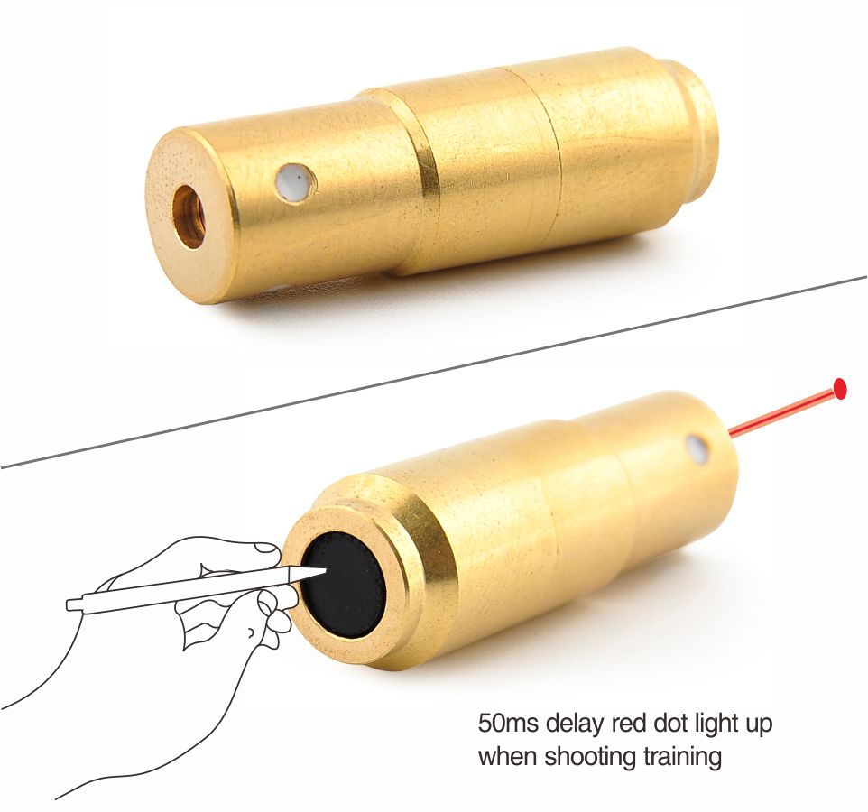 9mm (pulso de luz 70 ms) bala