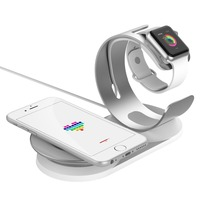 New 2 In 1 Adjustable Desk Dock Wireless Charge Holder For Apple Watch Wireless Charging Stand